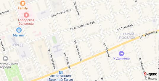Улица Чапаева в Верхнем Тагиле с номерами домов на карте. Спутник и схема онлайн