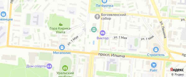 Былинный переулок на карте Первоуральска с номерами домов