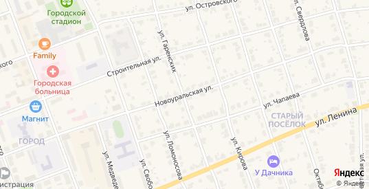 Ново-Уральская улица в Верхнем Тагиле с номерами домов на карте. Спутник и схема онлайн