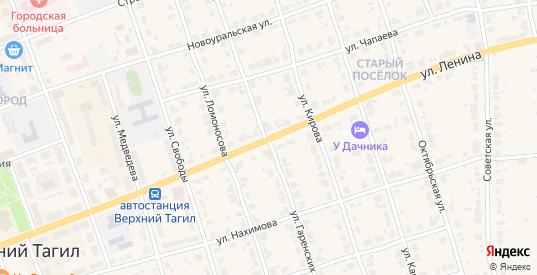 Улица Ленина в Верхнем Тагиле с номерами домов на карте. Спутник и схема онлайн