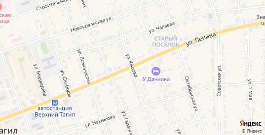 Улица Кирова в Верхнем Тагиле с номерами домов на карте. Спутник и схема онлайн