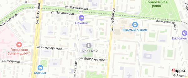 Школьная улица на карте Первоуральска с номерами домов