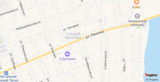 Октябрьская улица в Верхнем Тагиле с номерами домов на карте. Спутник и схема онлайн