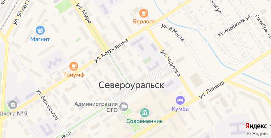 Переулок Ленина в Североуральске с номерами домов на карте. Спутник и схема онлайн
