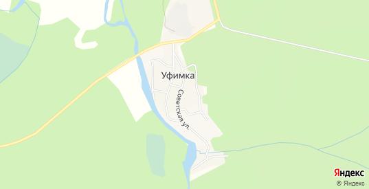 Карта поселка Уфимка в Верхнем Уфалее с улицами, домами и почтовыми отделениями со спутника онлайн
