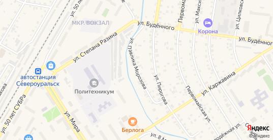 Улица Павлика Морозова в Североуральске с номерами домов на карте. Спутник и схема онлайн