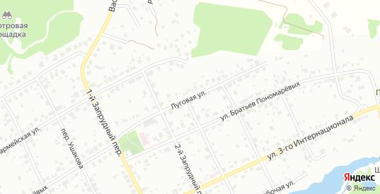 Луговая улица в Первоуральске с номерами домов на карте. Спутник и схема онлайн