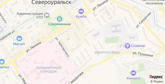 Бульвар Моисеева в Североуральске с номерами домов на карте. Спутник и схема онлайн