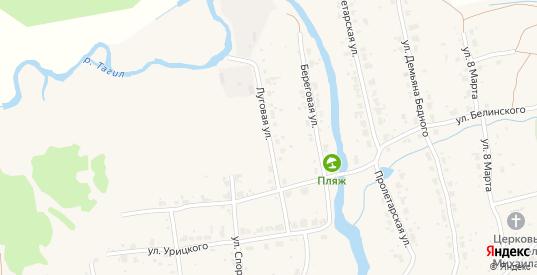 Луговая улица в Верхнем Тагиле с номерами домов на карте. Спутник и схема онлайн