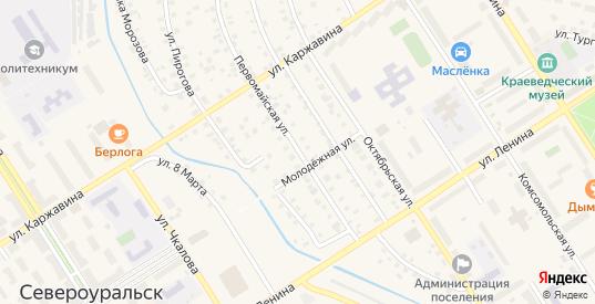 Первомайская улица в Североуральске с номерами домов на карте. Спутник и схема онлайн