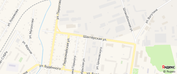 Шахтерская улица на карте Североуральска с номерами домов