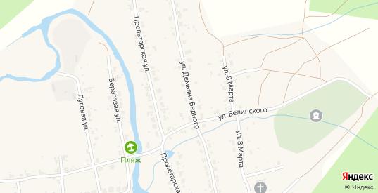Улица Демьяна Бедного в Верхнем Тагиле с номерами домов на карте. Спутник и схема онлайн