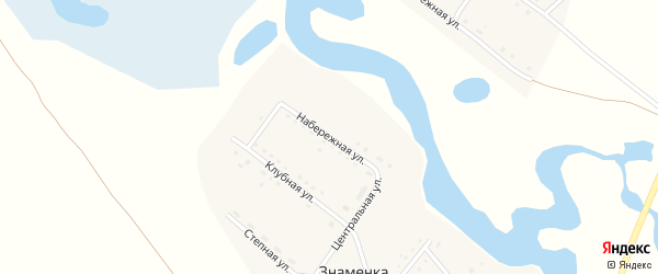 Набережная улица на карте поселка Знаменки с номерами домов