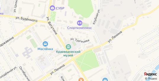 Улица Тургенева в Североуральске с номерами домов на карте. Спутник и схема онлайн