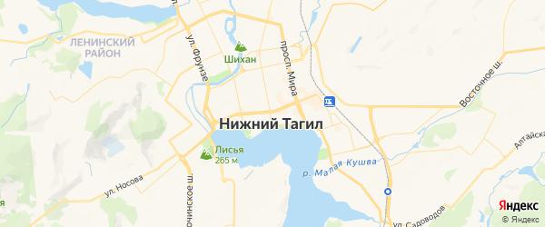 Карта Нижнего Тагила с районами, улицами и номерами домов