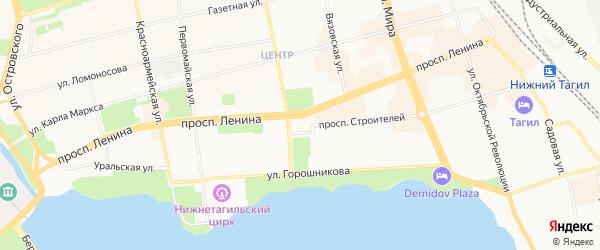 Территория ГСК Мебельщик на карте Нижнего Тагила с номерами домов