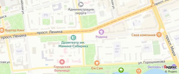 2-я Усадебная улица на карте Нижнего Тагила с номерами домов