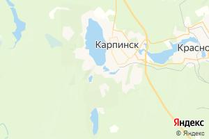 Карта г. Карпинск Свердловская область