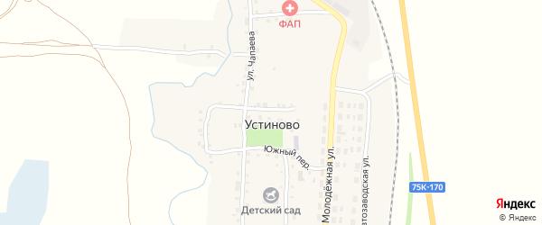 Рабочий переулок на карте села Устиново с номерами домов