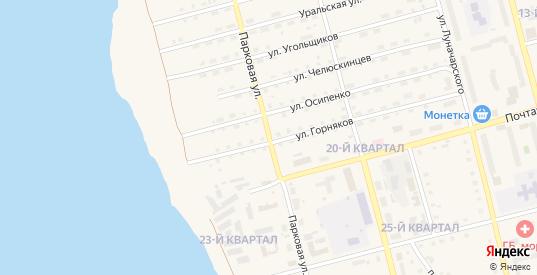 Парковая улица в Карпинске с номерами домов на карте. Спутник и схема онлайн