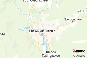 Карта г. Нижний Тагил Свердловская область
