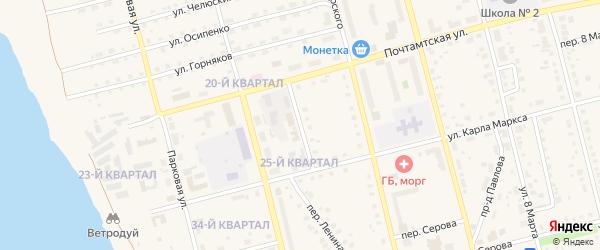 Шахтерский переулок на карте Карпинска с номерами домов