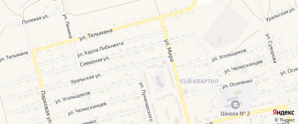 Улица Уральская сопка на карте Карпинска с номерами домов