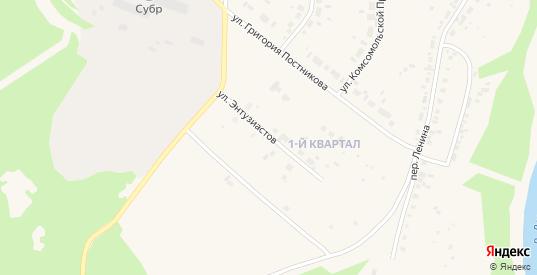 Улица Энтузиастов в Североуральске с номерами домов на карте. Спутник и схема онлайн