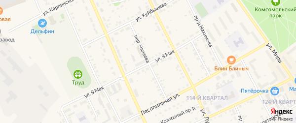 Переулок Чапаева на карте Карпинска с номерами домов