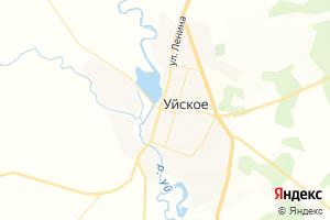 Карта с. Уйское Челябинская область