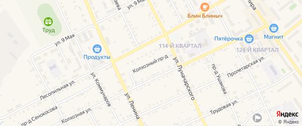 Колхозный проезд на карте Карпинска с номерами домов