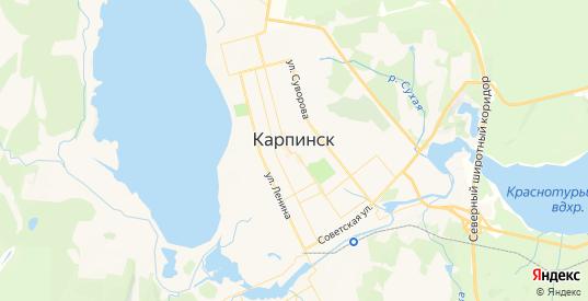 Карта Карпинска с улицами и домами подробная. Показать со спутника номера домов онлайн