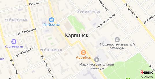 Улица 239-240 км в Карпинске с номерами домов на карте. Спутник и схема онлайн