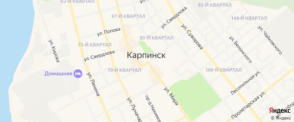 ГСК 93 квартал на карте Карпинска с номерами домов
