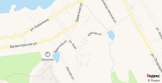 Улица Южная-1 в Карпинске с номерами домов на карте. Спутник и схема онлайн
