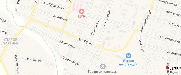 Степная улица на карте Уйского села с номерами домов