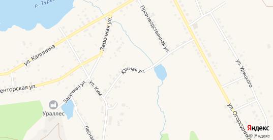 Южная улица в Карпинске с номерами домов на карте. Спутник и схема онлайн