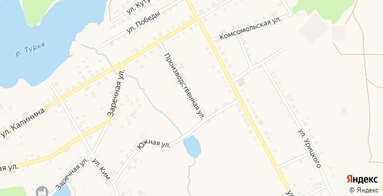 Производственная улица в Карпинске с номерами домов на карте. Спутник и схема онлайн