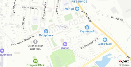 Улица Зои Космодемьянской в Первоуральске с номерами домов на карте. Спутник и схема онлайн