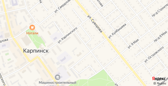 Улица Некрасова в Карпинске с номерами домов на карте. Спутник и схема онлайн