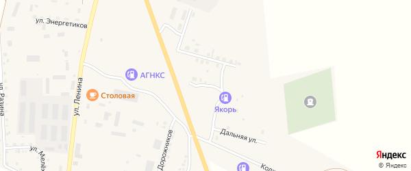 Балтийская улица на карте Уйского села Челябинской области с номерами домов