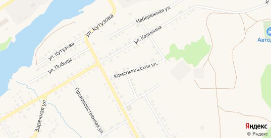 Комсомольская улица в Карпинске с номерами домов на карте. Спутник и схема онлайн