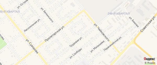 Проезд Белинского на карте Карпинска с номерами домов