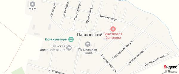 Красноармейский переулок на карте Павловского поселка с номерами домов