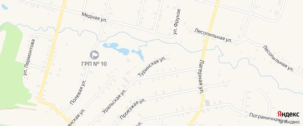 Туринская улица на карте Красноуральска с номерами домов