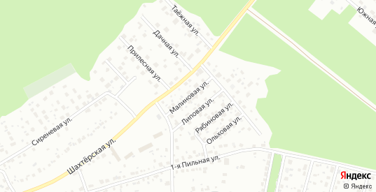 Малиновая улица в Первоуральске с номерами домов на карте. Спутник и схема онлайн