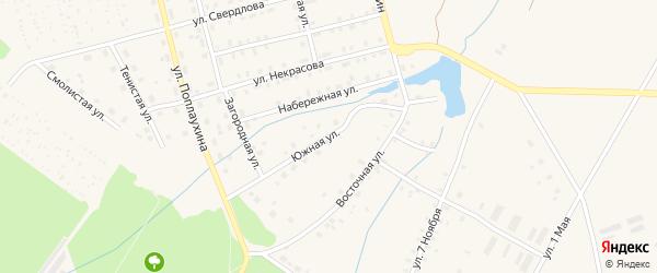 Южная улица на карте Красноуральска с номерами домов
