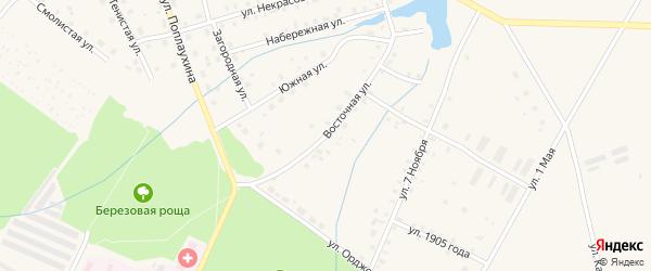Восточная улица на карте Красноуральска с номерами домов