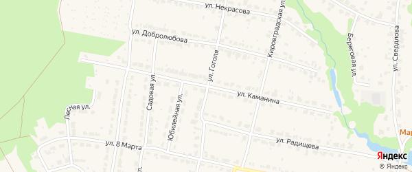 Улица Каманина на карте Кировграда с номерами домов