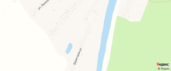 Береговая улица на карте села Балакино Свердловской области с номерами домов